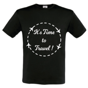 tee-shirt noir - time to travel