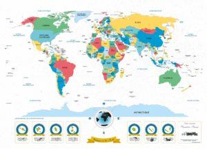 Affiche du monde en couleurs
